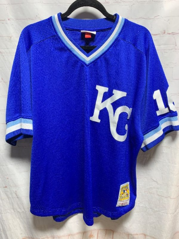 product details: MLB KANSAS CITY ROYALS #16 THROWBACK BASEBALL JERSEY photo
