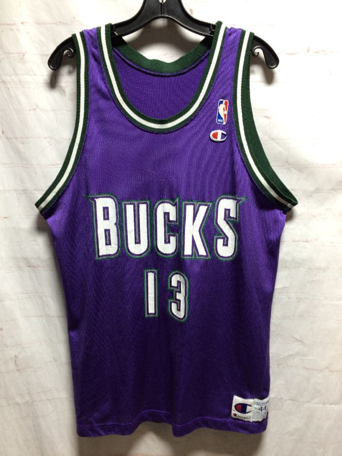 info for 89a34 401fd NBA MILWAUKEE BUCKS BASKETBALL JERSEY # 13 ROBINSON