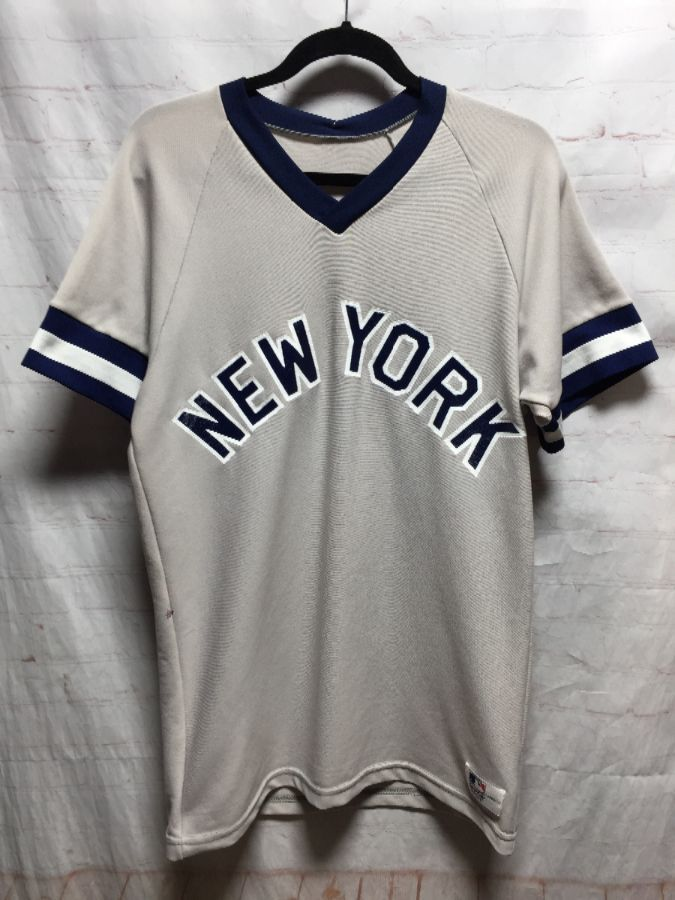 new style 29a16 96b5e MLB NEW YORK YANKEES PULLOVER BASEBALL JERSEY