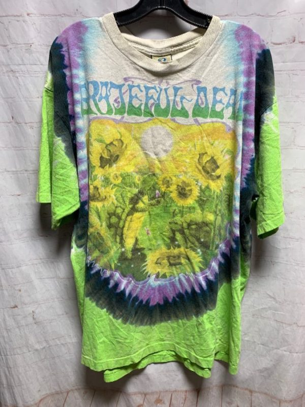 product details: GRATEFUL DEAD TIE-DYE SHIRT W/ SUNFLOWER & TURTLE GRAPHIC photo
