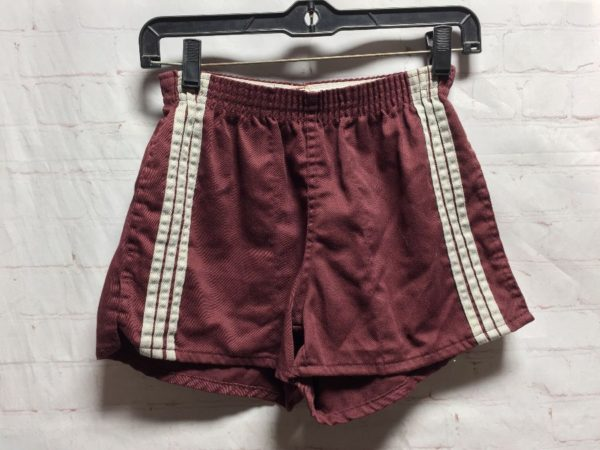 product details: RETRO TRACK RUNNING SHORTS W/ VERTICAL STRIPED SIDES photo