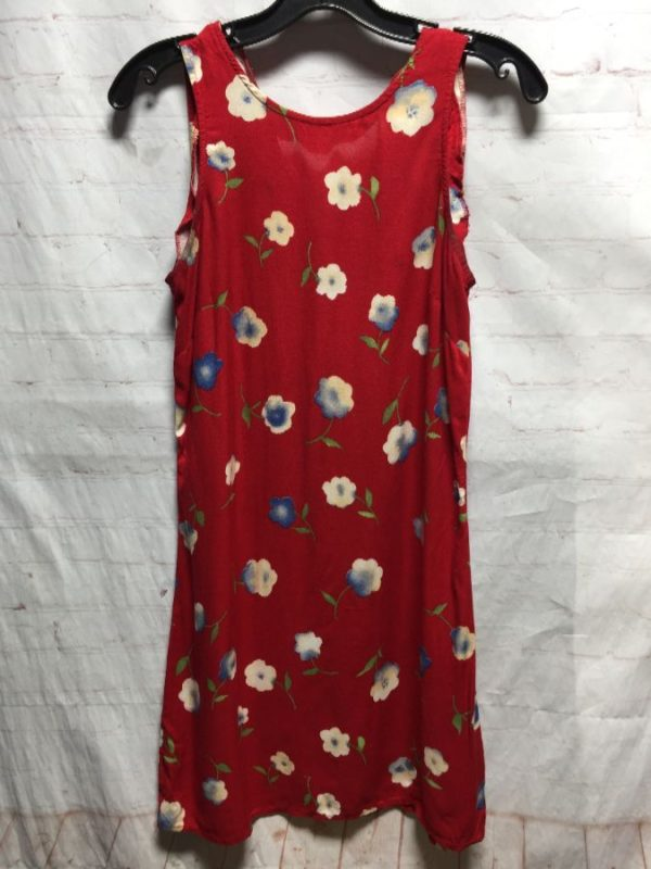 product details: CUTE 1980'S-1990'S FLORAL PRINT SUMMER RAYON DRESS photo