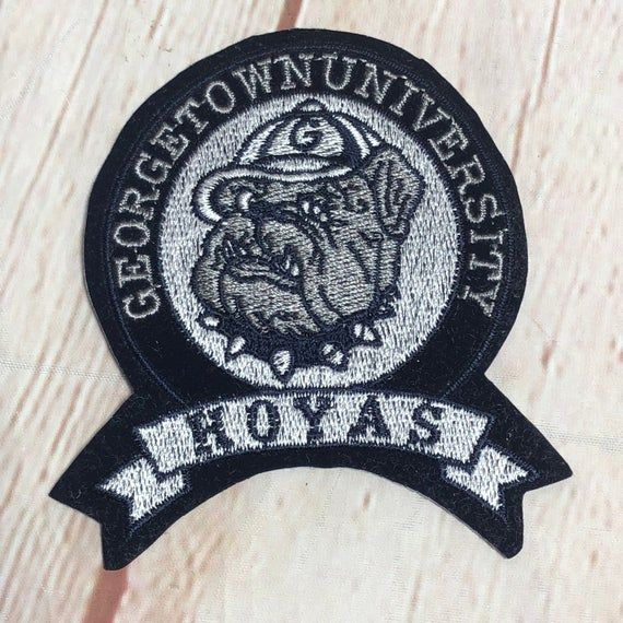product details: GEORGETOWN HOYAS VINTAGE DEADSTOCK PATCH SEW ON 1990S THROWBACK FOOTBALL UNIVERSITY photo
