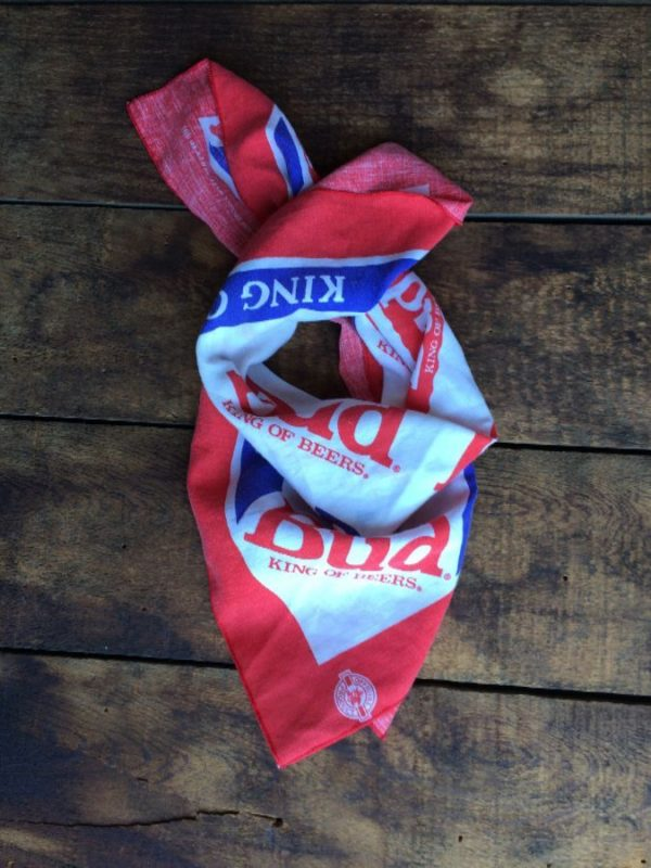 product details: BANDANA W/ BUDWEISER - BUD KING OF BEERS photo