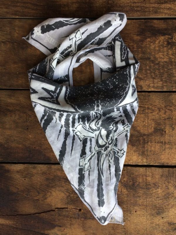 product details: BANDANA W/ METALLICA & METAL BAND LOGO photo
