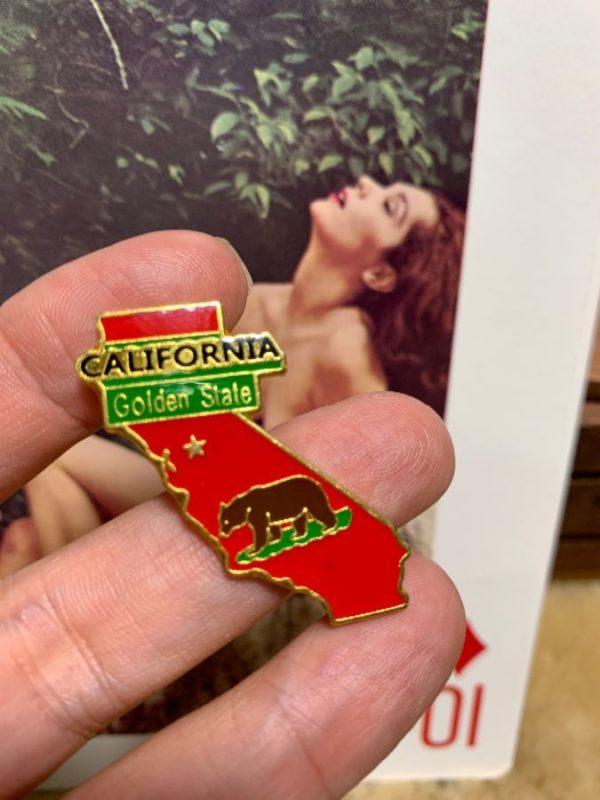 product details: CALIFORNIA STATE SHAPE ENAMEL PIN photo