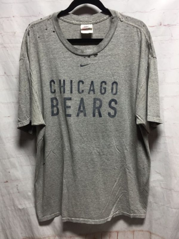 product details: DISTRESSED NIKE CHICAGO BEARS T - SHIRT photo