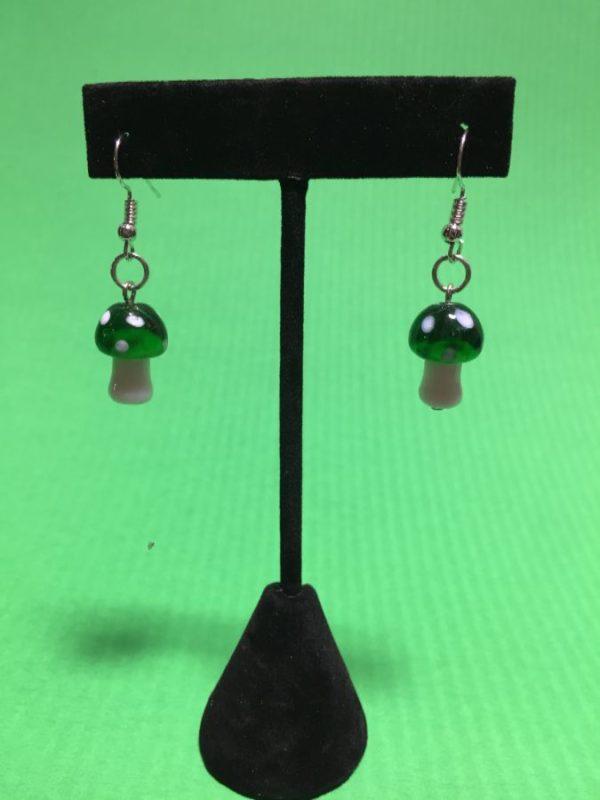 product details: MURANO BLOWN GLASS MINI MUSHROOM EARRINGS photo