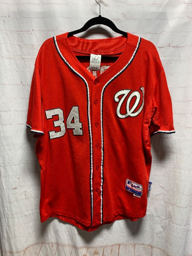 factory authentic 899f7 cd875 MLB WASHINGTON NATIONALS BASEBALL JERSEY #34 HARPER