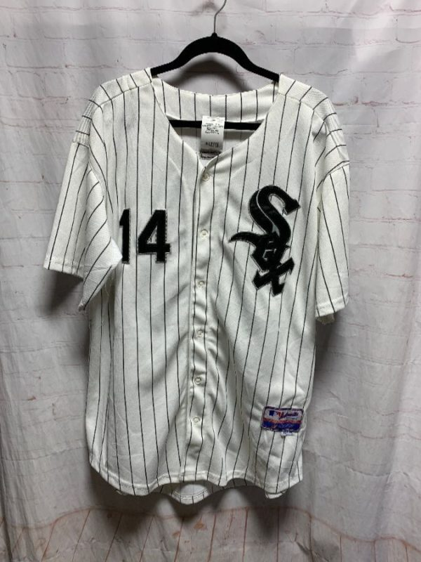 product details: MLB CHICAGO WHITESOX BASEBALL JERSEY #14 KONERKO photo