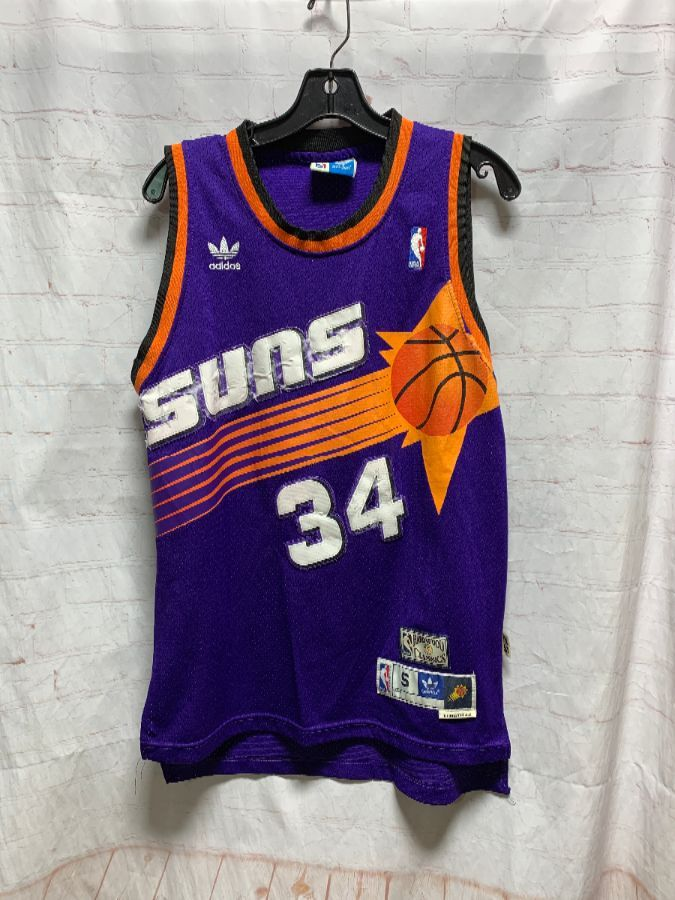 new arrival 94702 00d34 NBA PHOENIX SUNS BASKETBALL JERSEY #34 BARKLEY