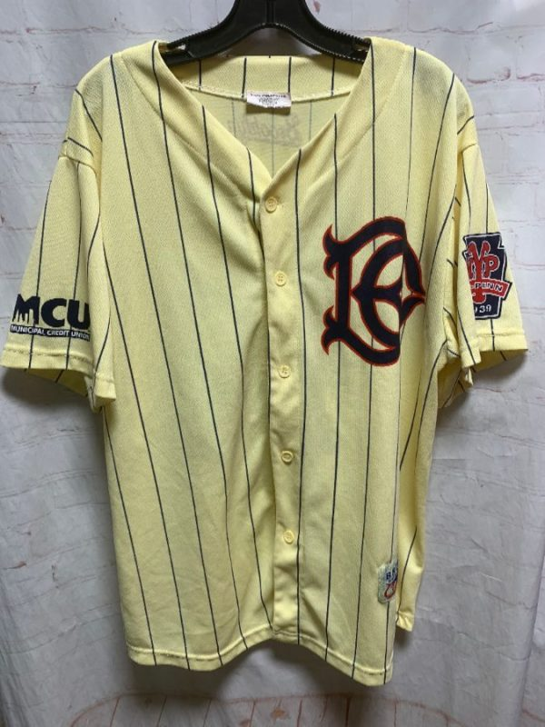 product details: BROOKLYN CYCLONES PINSTRIPED BASEBALL JERSEY photo