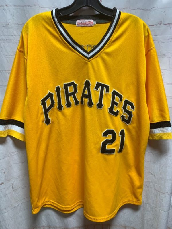 product details: MLB PITTSBURGH PIRATES PULLOVER #21 CLEMENTE BASEBALL JERSEY photo