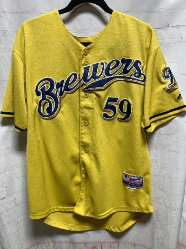 product details: MLB MILWAUKEE BREWERS STITCHED BASEBALL JERSEY #59 AXFORD photo