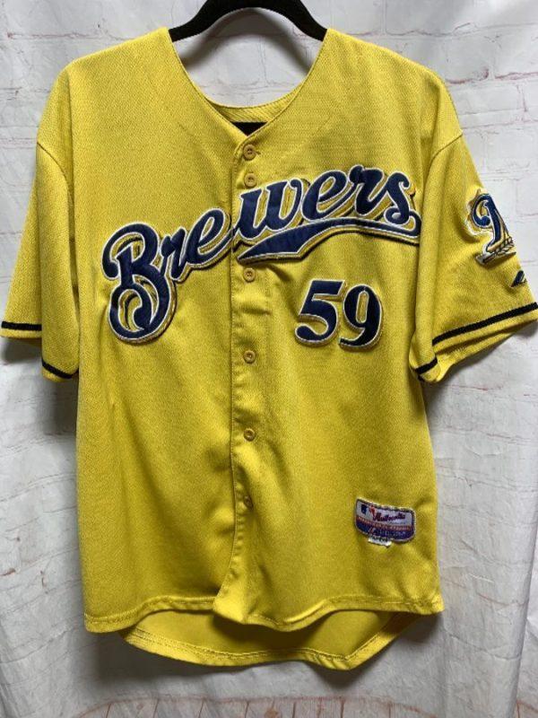 MLB MILWAUKEE BREWERS STITCHED BASEBALL JERSEY #59 AXFORD