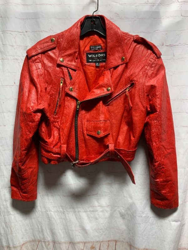 product details: 1980'S CROPPED LEATHER MOTORCYCLE JACKET photo