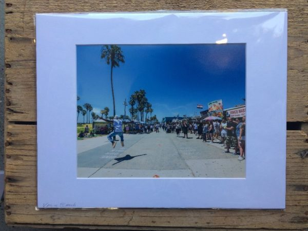 product details: VENICE BEACH BOARDWALK MOUNTED PHOTOGRAPH photo