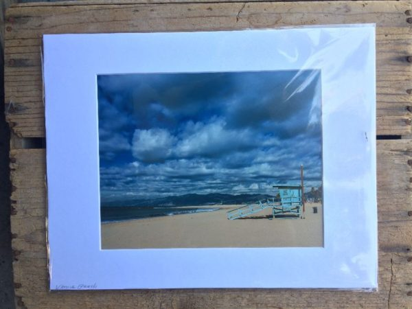 product details: VENICE CALIFORNIA OCEAN & BEACH SCENE MOUNTED PHOTOGRAPH photo