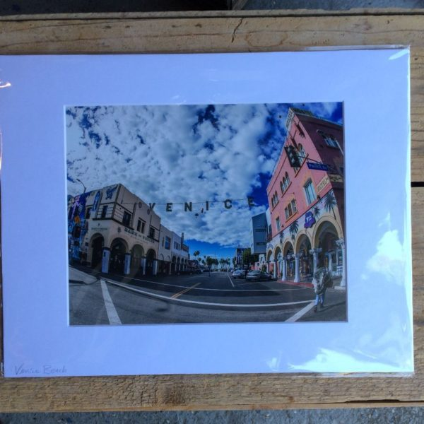product details: SUNNY CALIFORNIA W/ FAMOUS VENICE OVERHEAD SIGN MOUNTED PHOTOGRAPH photo