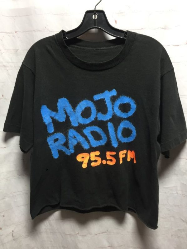 product details: 1980'S-90'S MOJO RADIO 95.5 FM CROPPED T-SHIRT photo