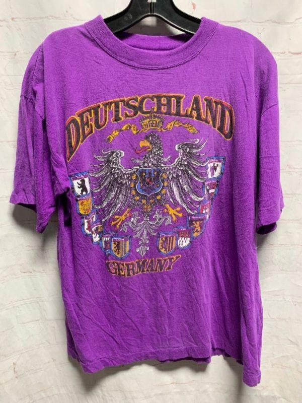 product details: COOL SOFT SINGLE STITCH DEUTSCHLAND GERMANY EAGLE LOGO T-SHIRT photo