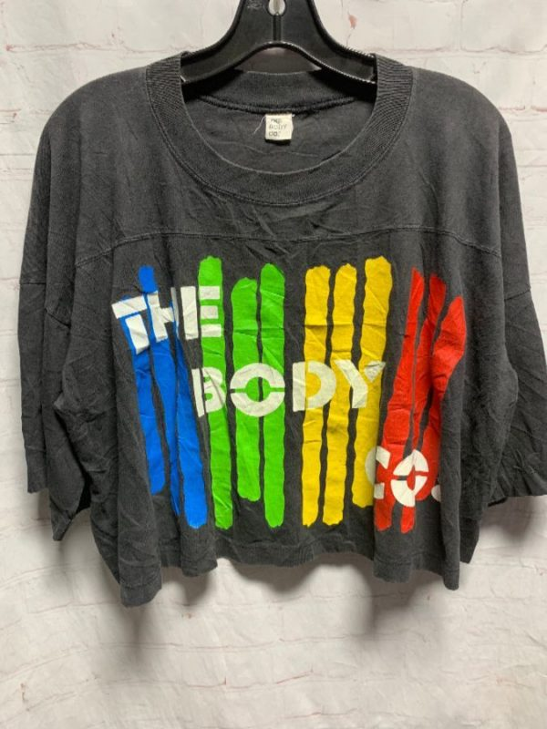 product details: 1980'S-90'S THE BODY CO. RAINBOW LOGO CROPPED T-SHIRT photo