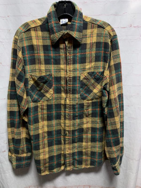 product details: SUPER RAD BIG MAC PLAID DESIGN FLANNEL SHIRT photo
