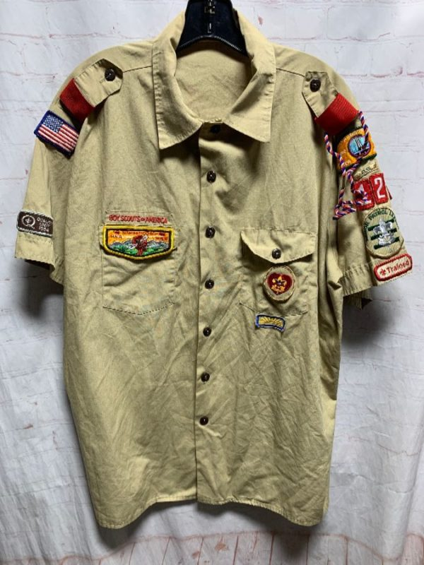 product details: BOY SCOUTS OF AMERICA UNIFORM W/ EMBROIDERED PATCHES photo