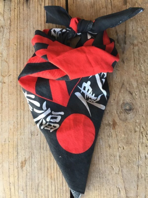product details: RARE 1980'S JAPANESE RISING SUN GRAPHIC BANDANA MADE IN USA photo