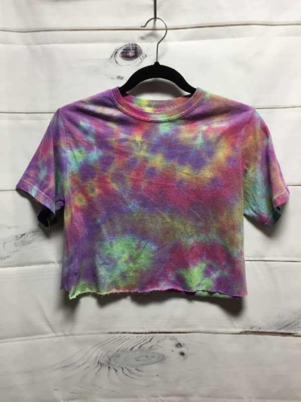 product details: CROPPED TIE-DYED T-SHIRT photo
