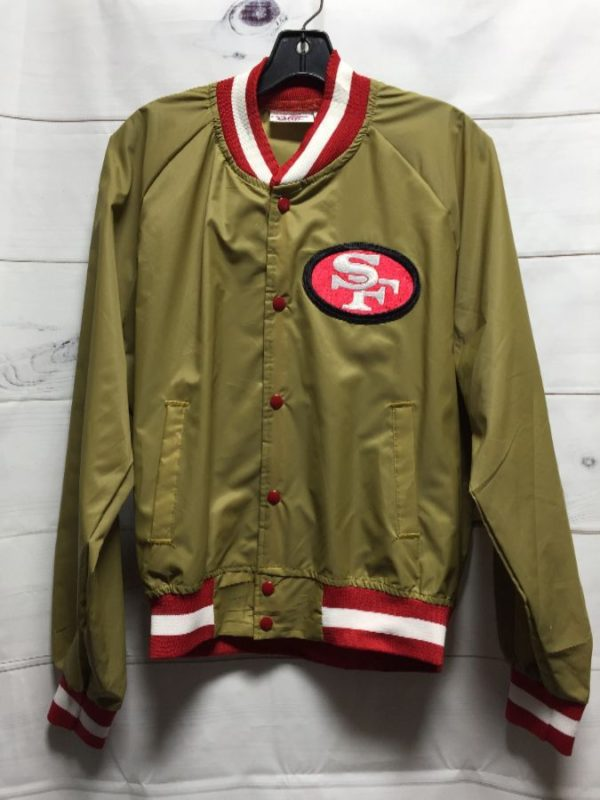 product details: SAN FRANCISCO 49ERS NYLON SNAP-UP JACKET LIGHTWEIGHT photo