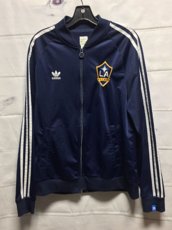 product details: ADIDAS LA GALAXY TRACK JACKET W/ EMBROIDERED LOGOS photo