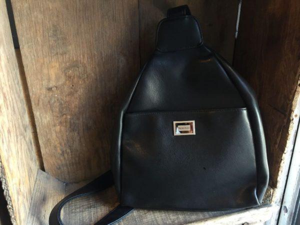 product details: COOL FAUX LEATHER SHOULDER SLING BACKPACK BAG W/ SINGLE STRAP photo