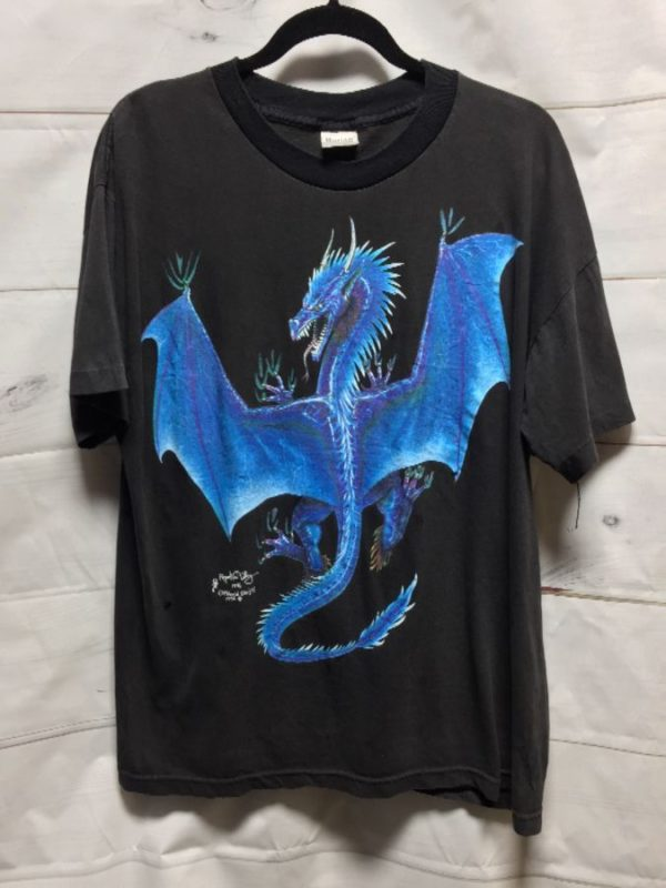 product details: FLYING DRAGON T-SHIRT W/ SINGLE STITCH photo