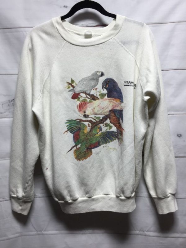 product details: EXOTIC BIRDS/PARROTS/COCKATOO CREW-NECK SWEATSHIRT photo