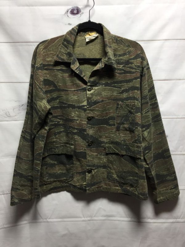 product details: SUPER RAD TIGER CAMO PRINT LIGHT WEIGHT MILITARY JACKET photo