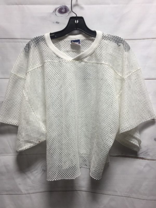 product details: BOXY CROPPED ATHLETIC MESH FABRIC FOOTBALL JERSEY photo