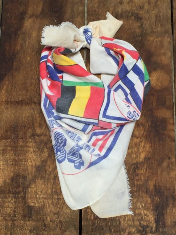 product details: 1984 SUMMER OLYMPICS LOS ANGELES BANDANA - AS IS photo