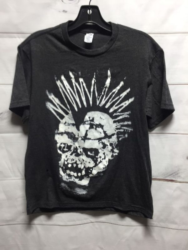 product details: GUTTER PUNK SKULL MOHAWK  TSHIRT SMALLER FIT photo