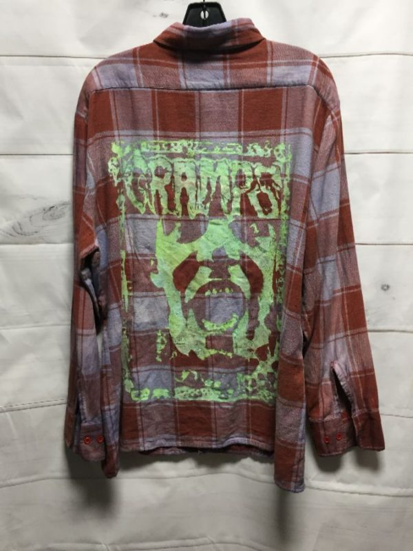 product details: FLANNEL SHIRT W/ THE CRAMPS BACK GRAPHIC photo