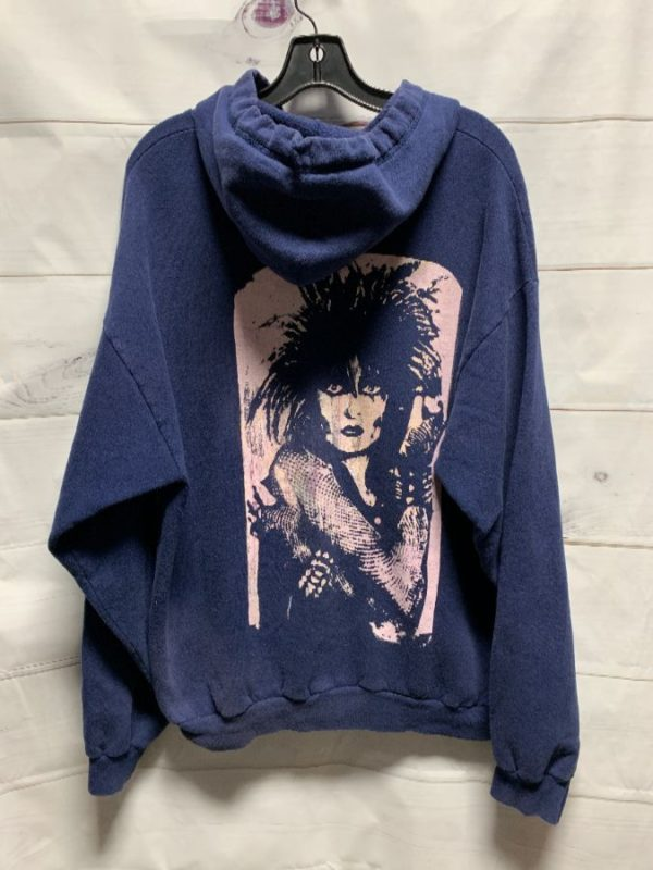 product details: ZIP-UP HOODED SWEATSHIRT W/ SIOUXSIE & THE BANSHEES BACK PRINT photo
