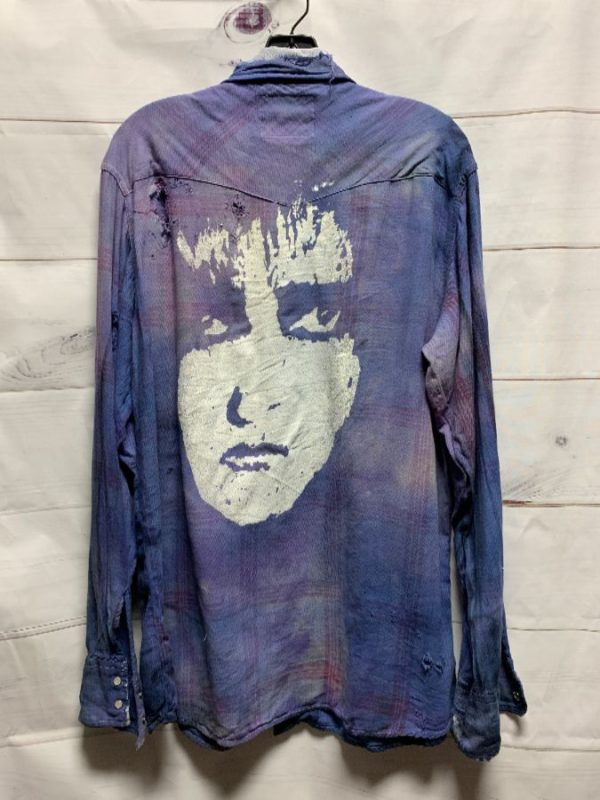 product details: Siouxsie and the Banshees SUPER SOFT DISTRESSED OMBRE DYED FLANNEL AS-IS photo