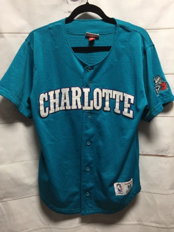product details: NBA CHAROLETTE HORNETS BASEBALL JERSEY photo