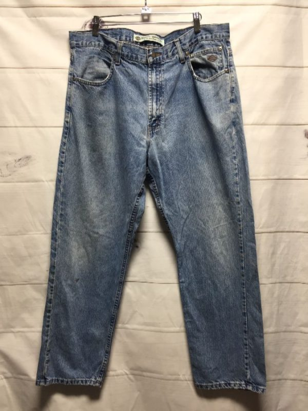 product details: BASIC HARLEY DAVIDSON DENIM DAD JEANS photo