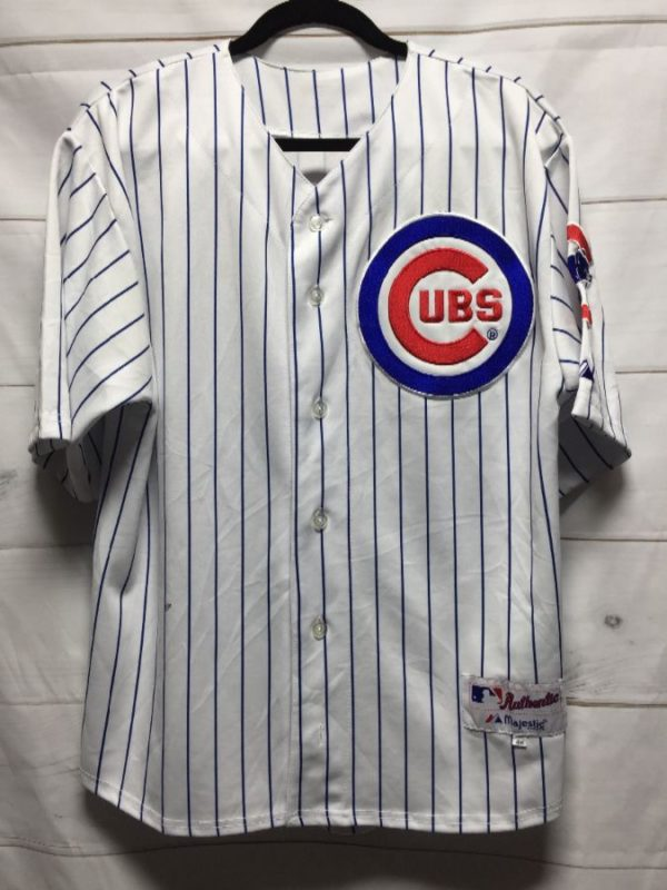 product details: MLB CHICAGO CUBS  MARMOL #49 PINSTRIPED BASEBALL JERSEY STITCHED LETTERING photo