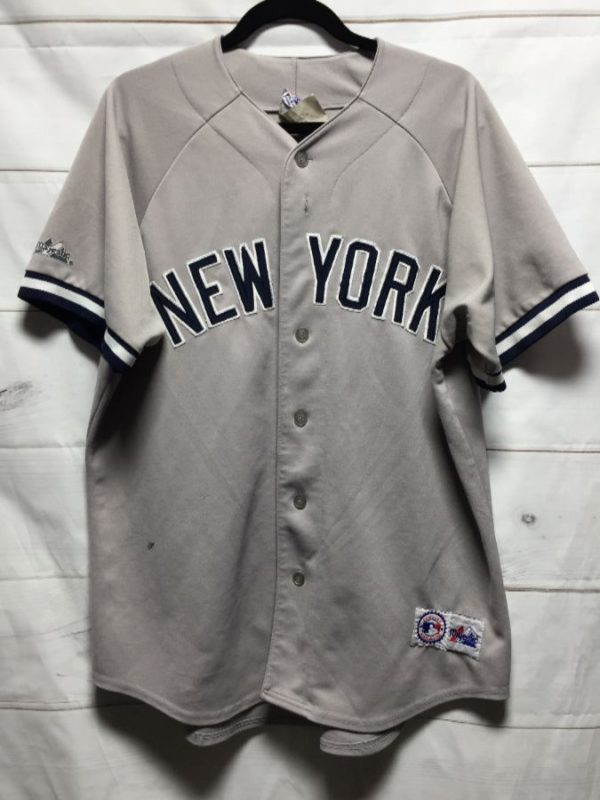 product details: MLB NEW YORK YANKEES BASEBALL JERSEY W/ APPLIQUED LETTERS photo