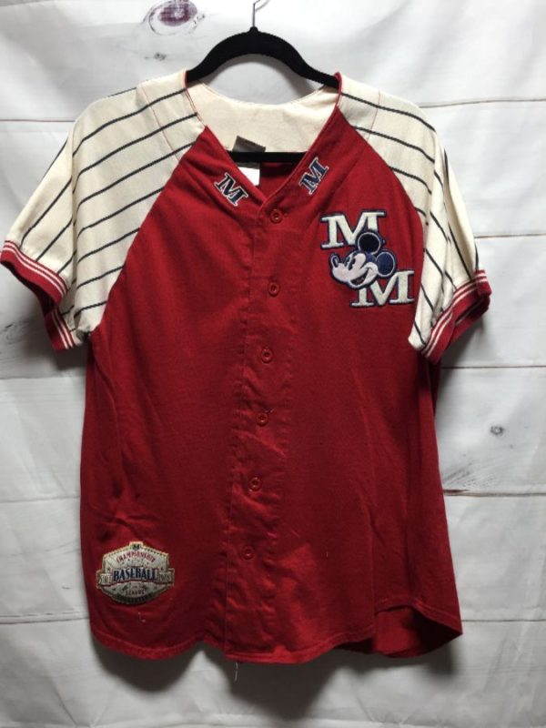 product details: MICKEY MOUSE BASEBALL JERSEY SMALLER FIT photo
