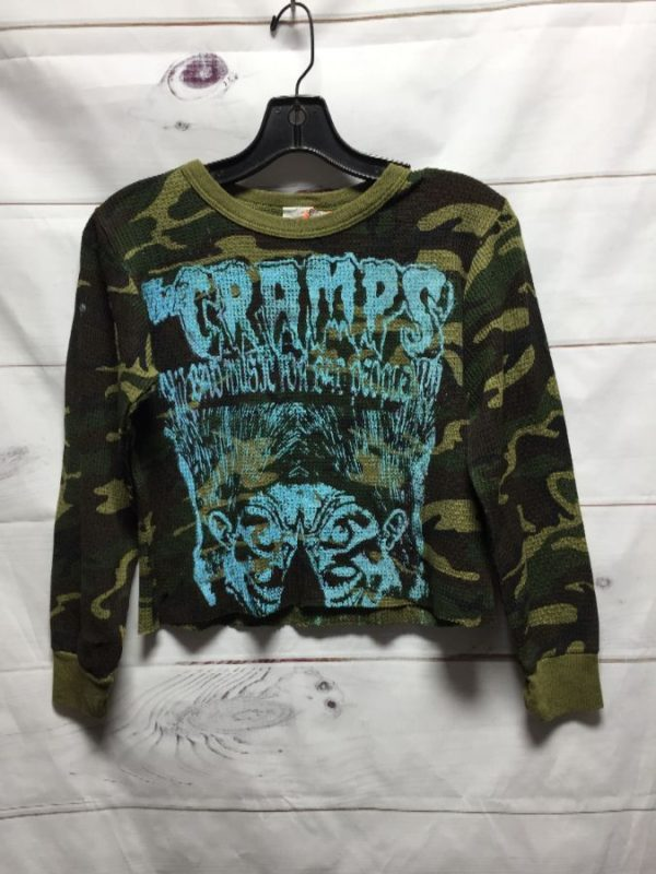 product details: THE CRAMPS PRINT CAMO CROPPED THERMAL SUPER SMALL FIT photo