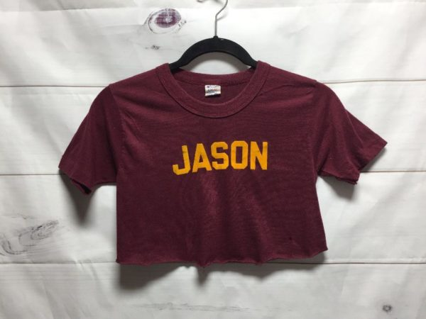 product details: CHAMPION CUT-OFF CROPPED TOP T-SHIRT W/ JASON photo