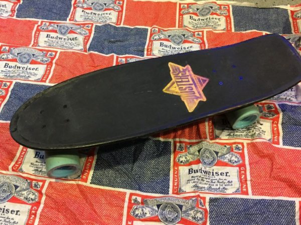 product details: RETRO STYLE SKATEBOARD W/ CALIFORNIA DUSTERS DECAL photo